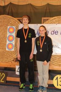 Gabin champion de Normandie et Alixe médaille de bronze