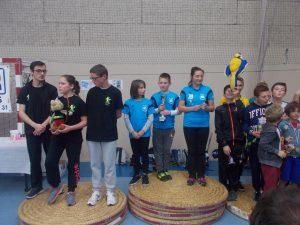 le podium de l'équipe St Loise