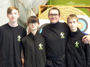 de gauche à droite: Vincent, Louna, Laurent, Erwan